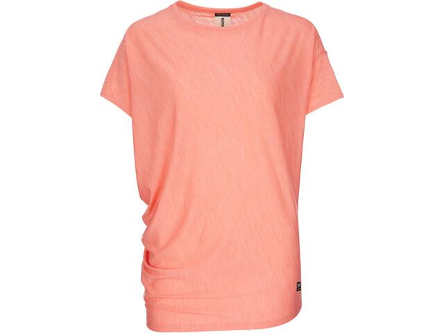super.natural Yoga Loose - Camiseta manga corta Mujer - naranja